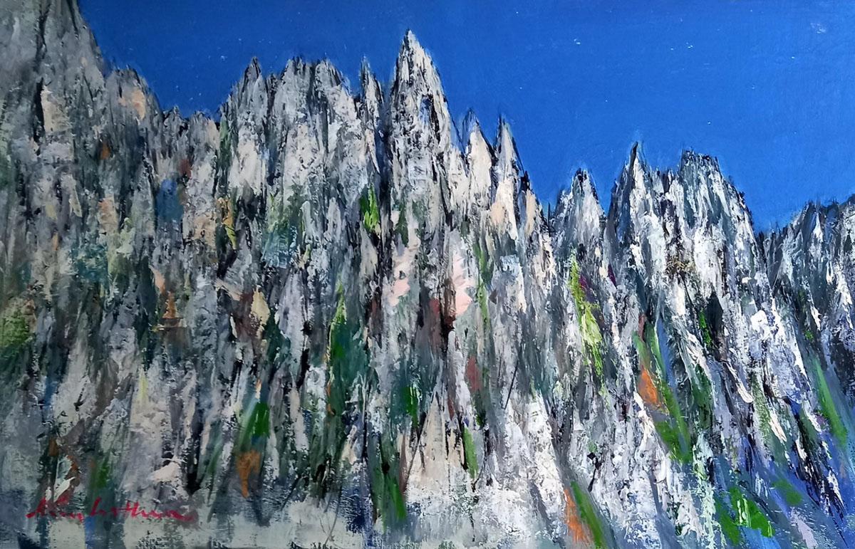 금강산︱45.5x27.3cm, Oil on canvas