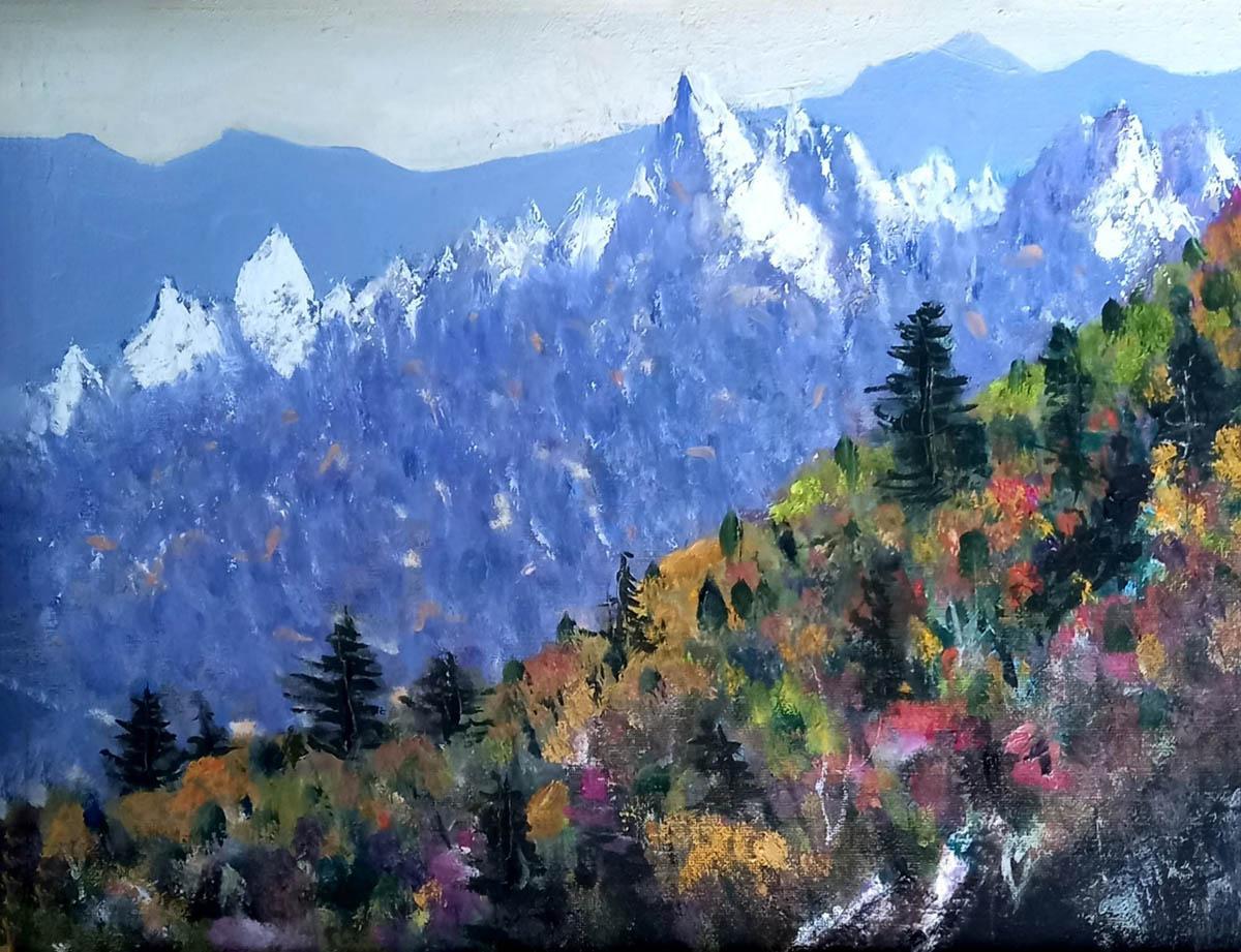 설악산의 봄︱40.9x27.3cm, Oil on canvas