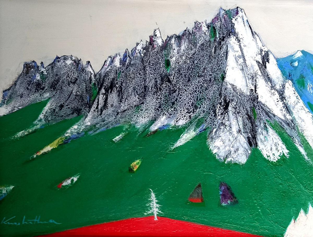 울산바위︱45.5x37.9cm, Oil on canvas