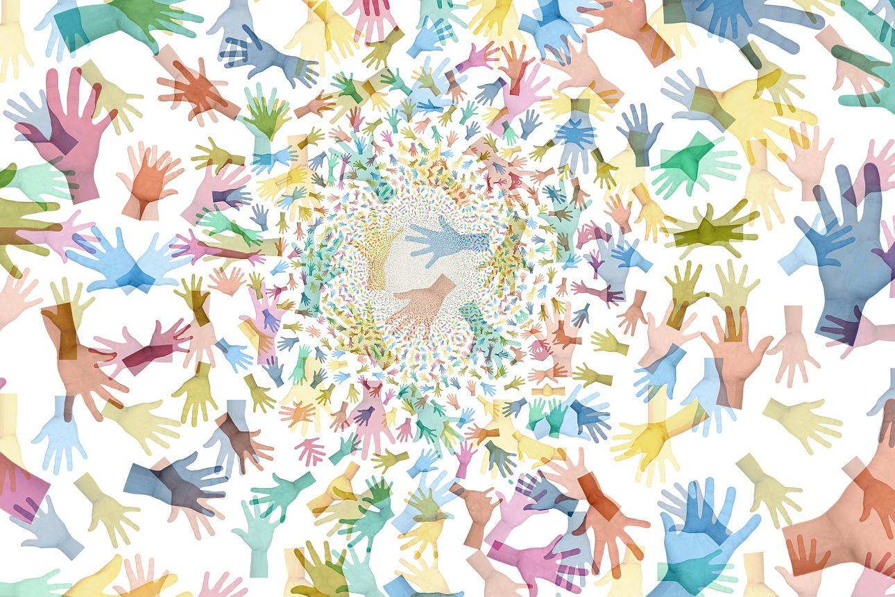 Bénévolat mains aide