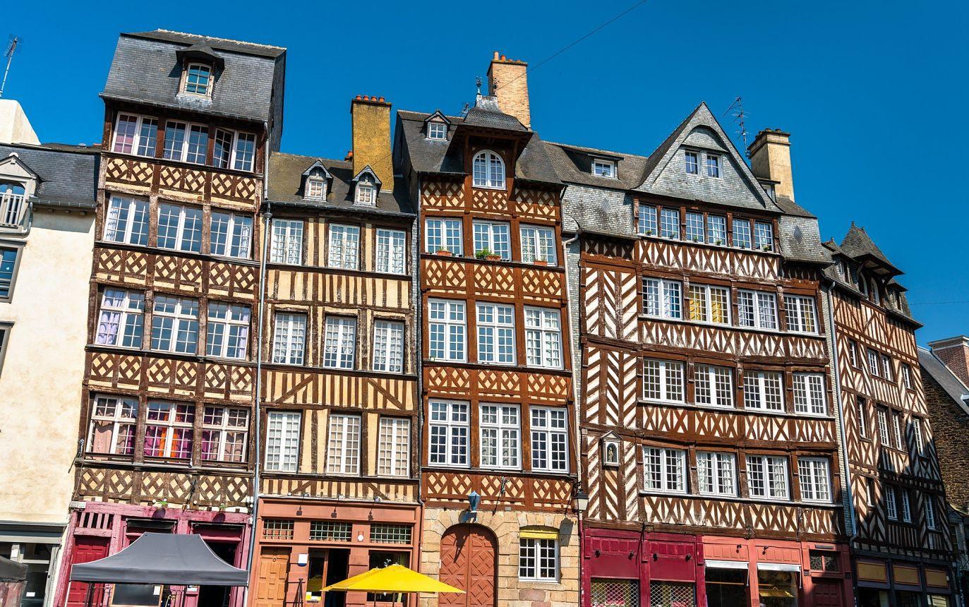 Bâtiment à colombage à Rennes