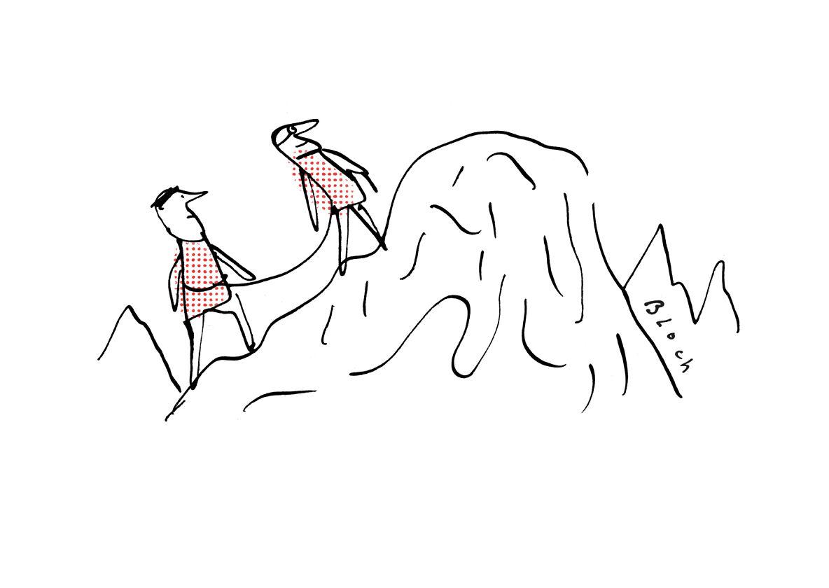 Réfugiés montagne