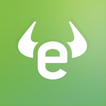 Logo eToro, plateforme investissements boursiers