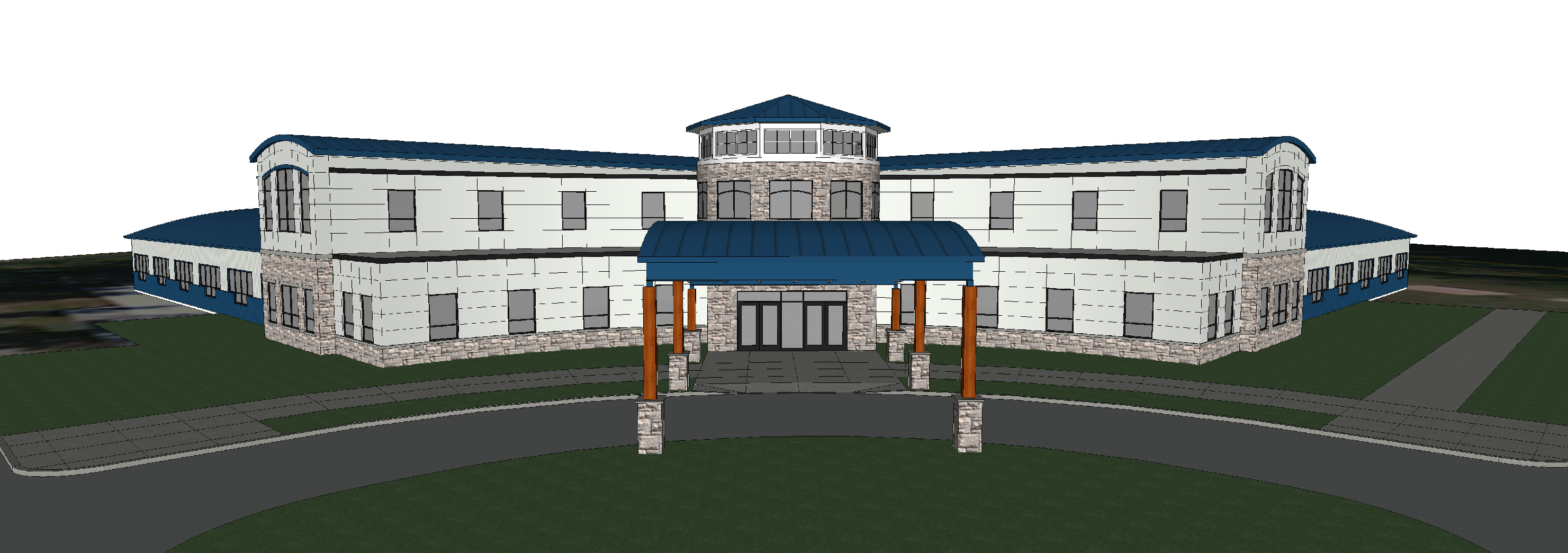 concept drawing of future hydro aquatic center