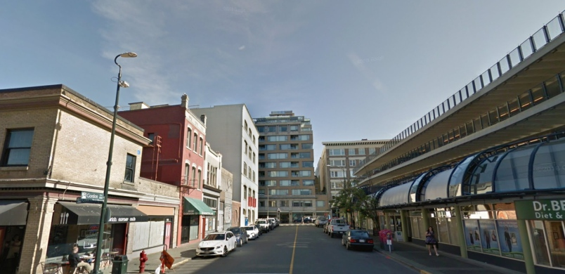 Gordon Street in downtown Victoria