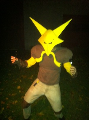 Halloween in 2011 featuring me as Alakazam in Burlinton, VT.