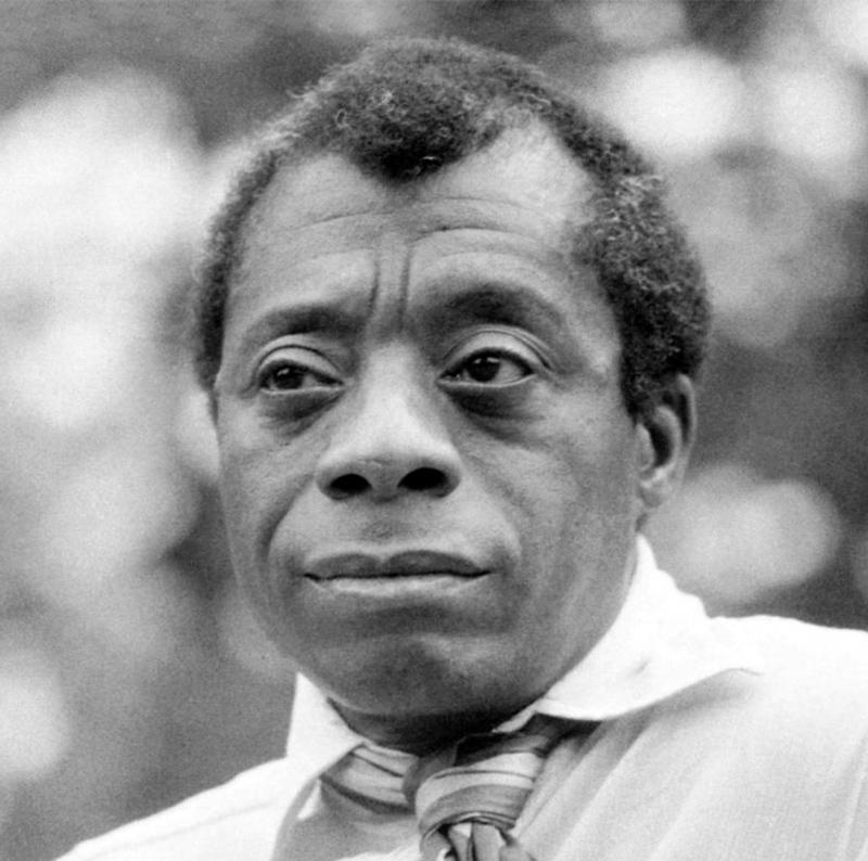 Photo portrait of James Baldwin for the James Baldwin Festival of Words.