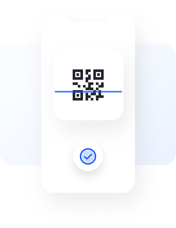 Preview of scanning QR code