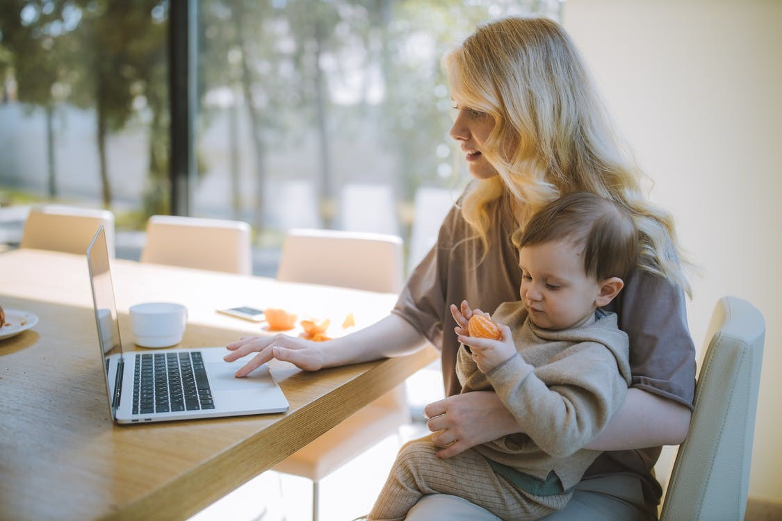 remote work moms