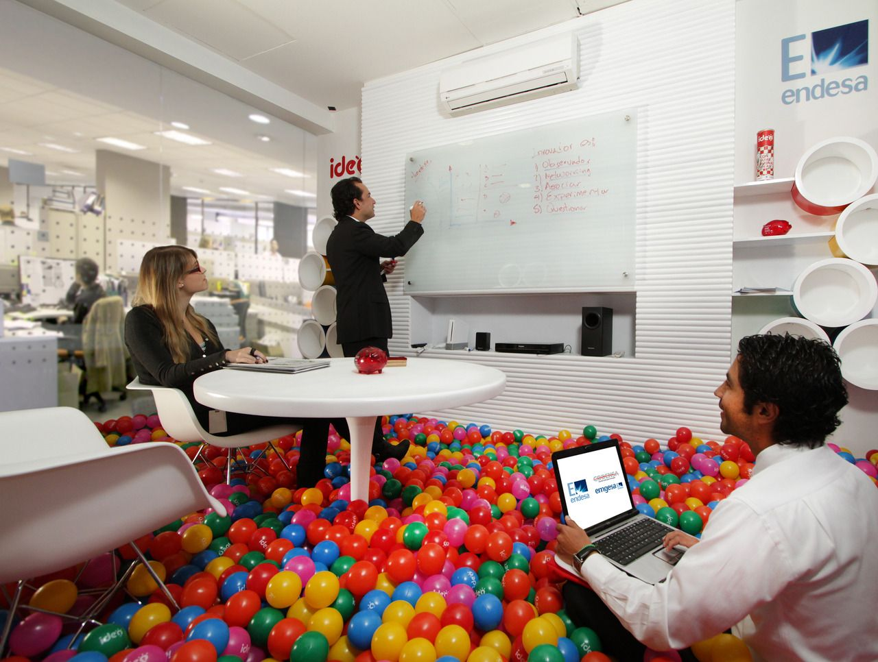 Ball pit office