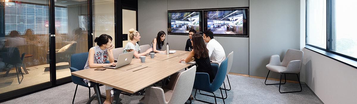 Singapore coworking space meeting room
