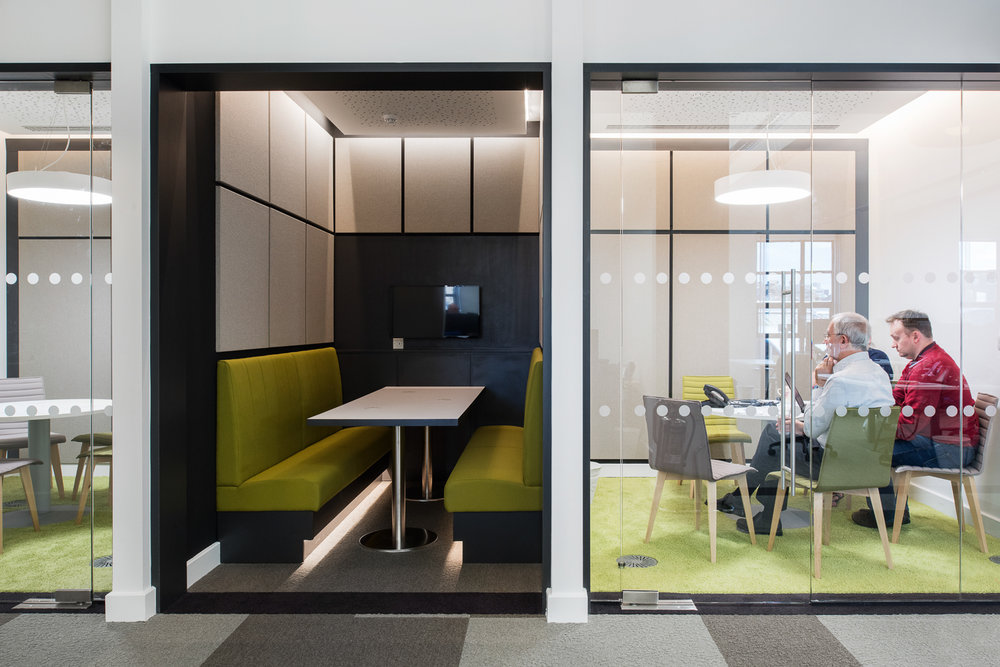 Activity based workspace meeting room and meeting booth
