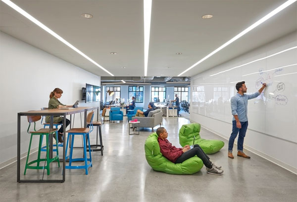 Startup office design workplace of the future