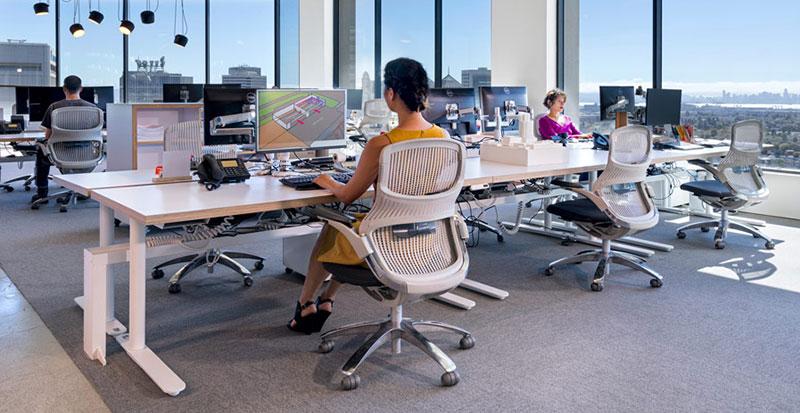 Office layout workspace design