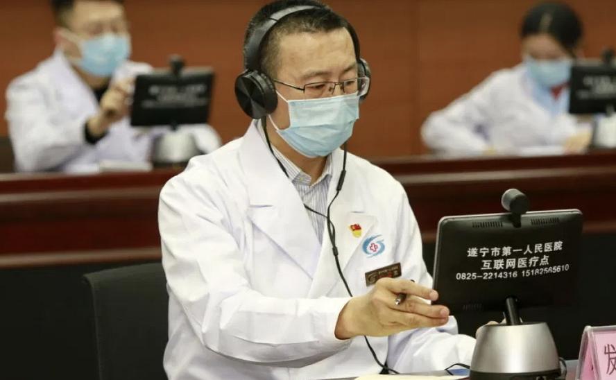 Digital healthcare platforms remote consultations doctor China