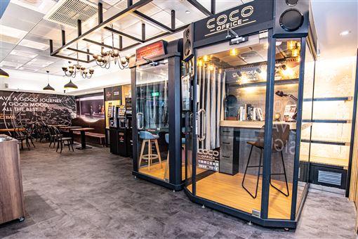 位於咖啡館裡的獨立工作間 coco office