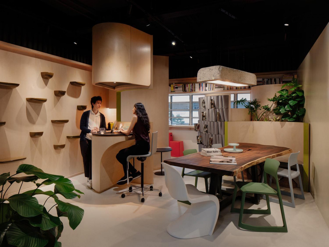 Studio SKLIM Converts a 32-Square-Metre Space into a Compact Multifunctional  Office