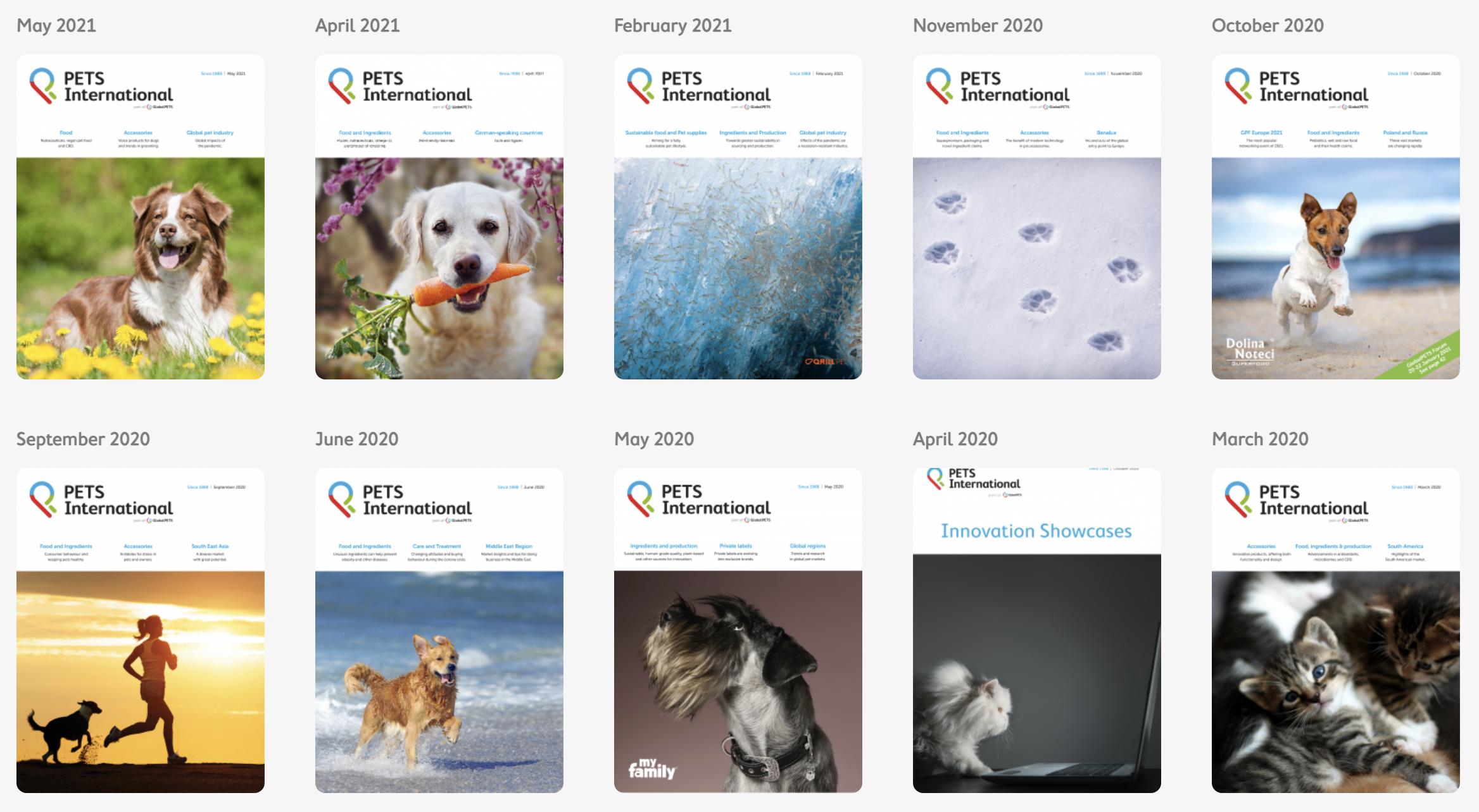 PETS International covers