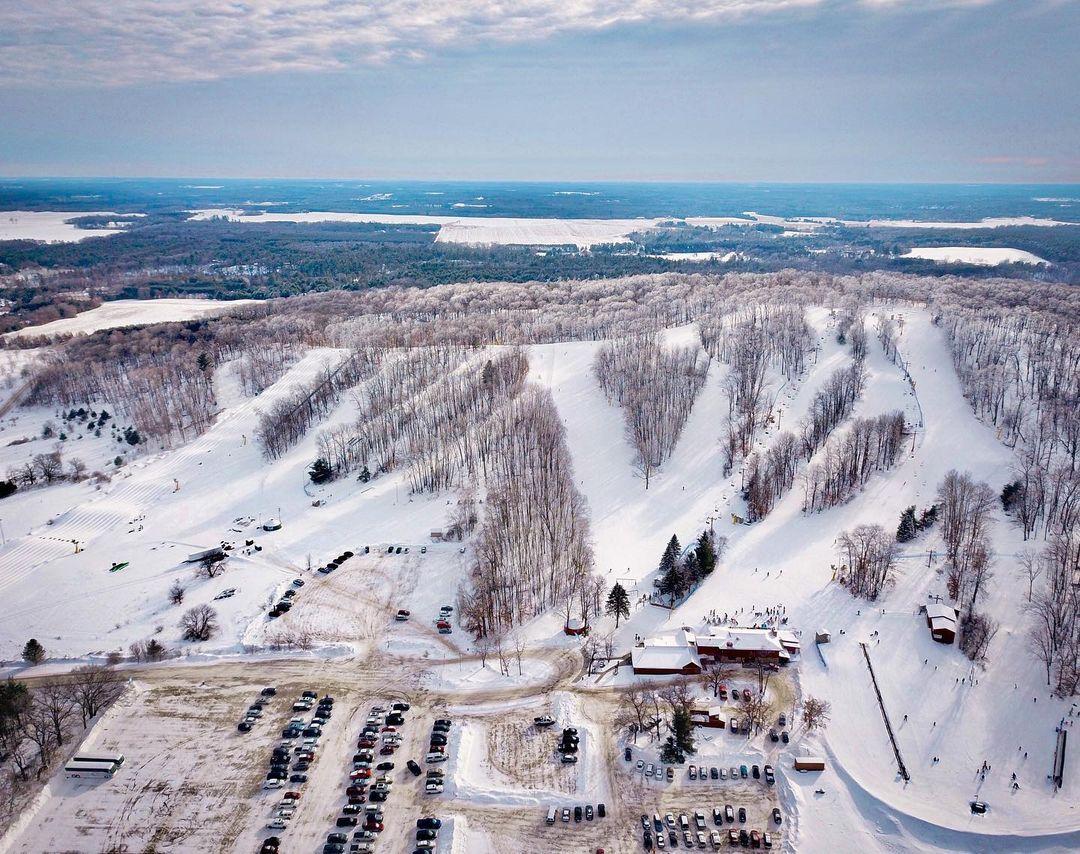 Nordic Mountain aerial shot