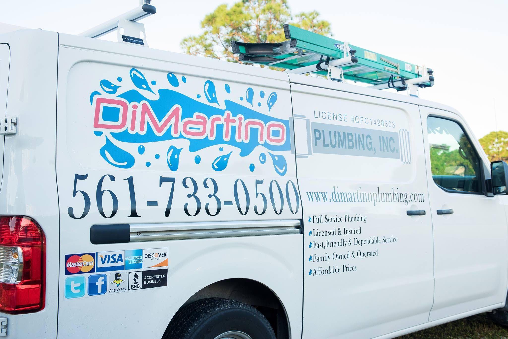 DiMartino Plumbing truck