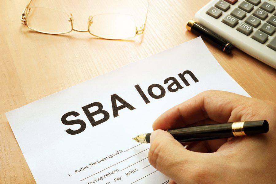 Filling out an SBA loan application
