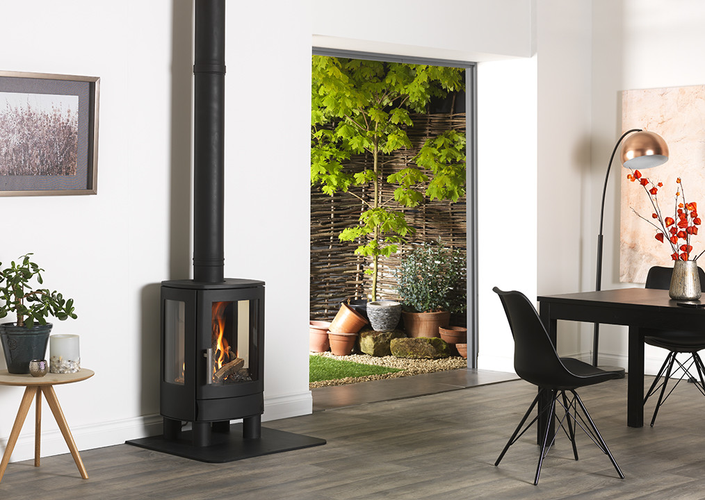 NEO3F Gas stove with a super realistic flame effect