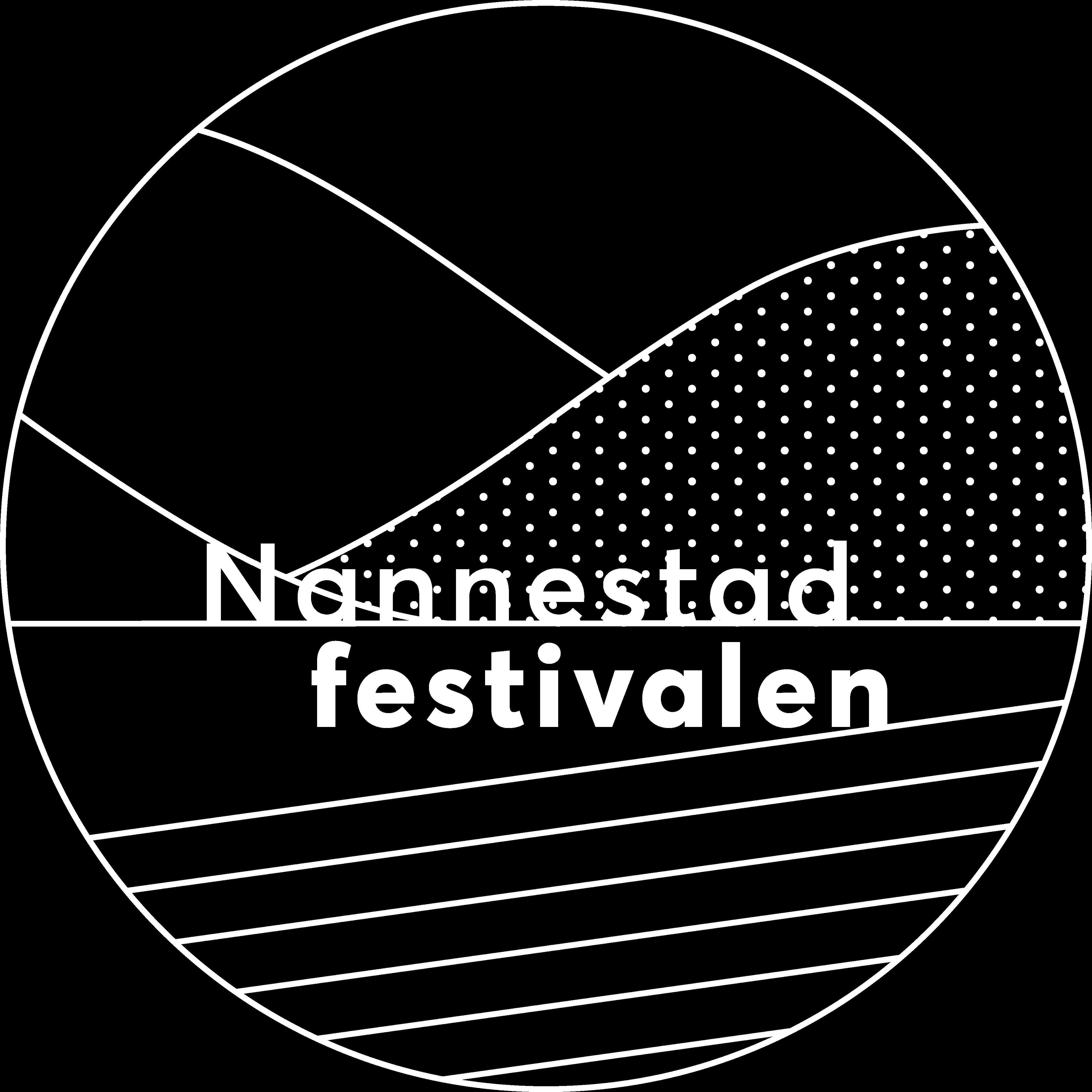 Nannestadfestivalen-logo i hvit