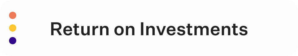 Return on Investments
