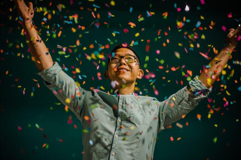 person celebrating