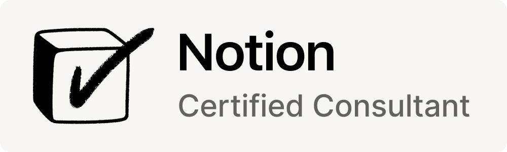 Official Notion Consultant Badge