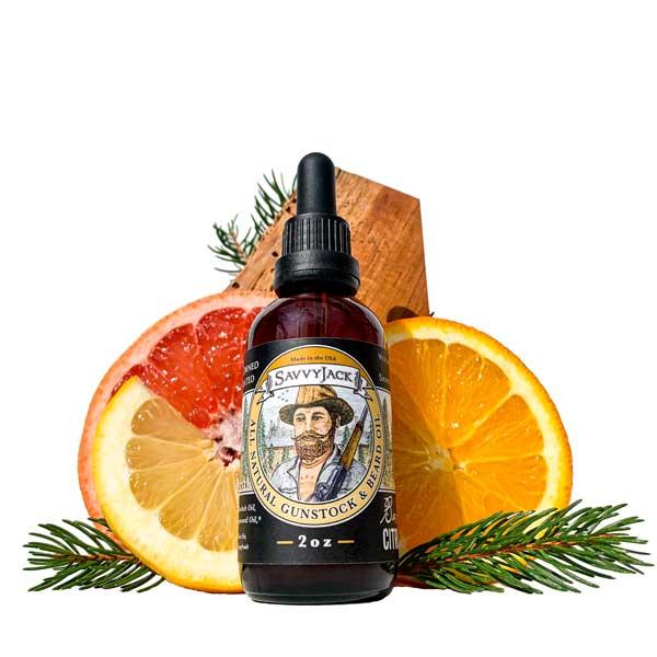 SavvyJack beard oil Citrus Grove