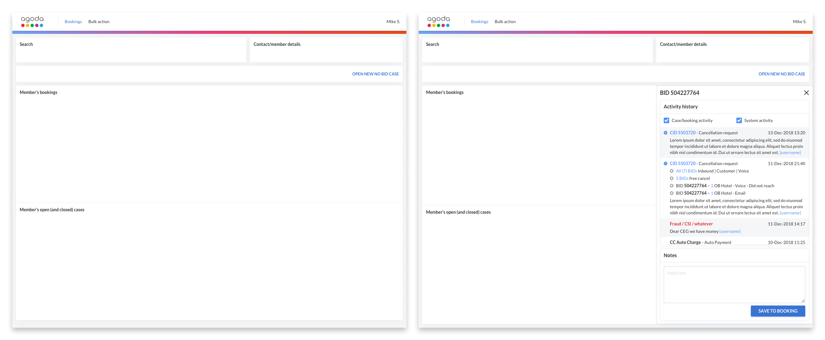 Additional examples of lo-fi wireframes