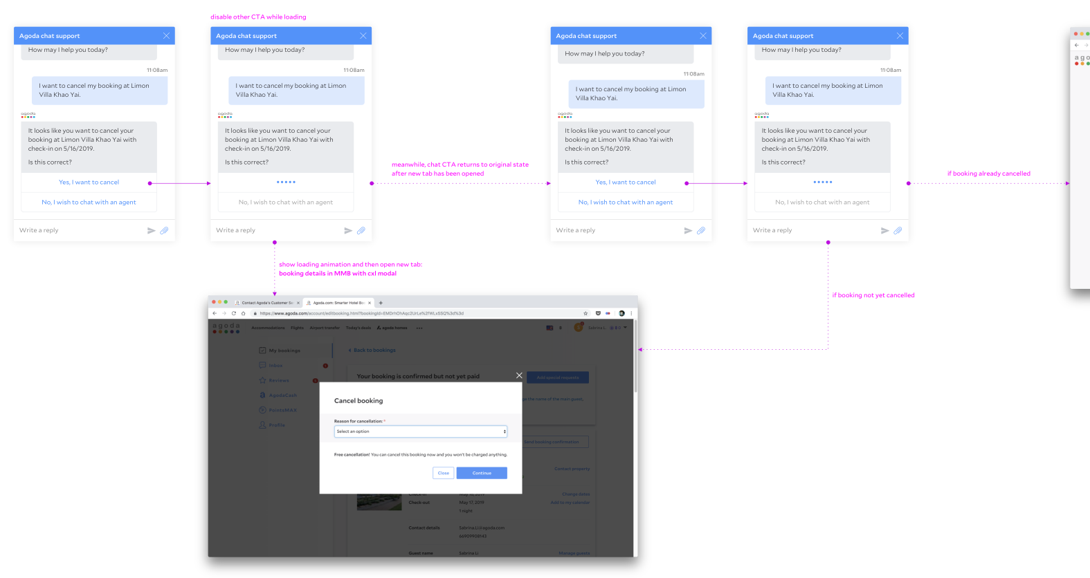 MVP cancellation flow with link to customer portal