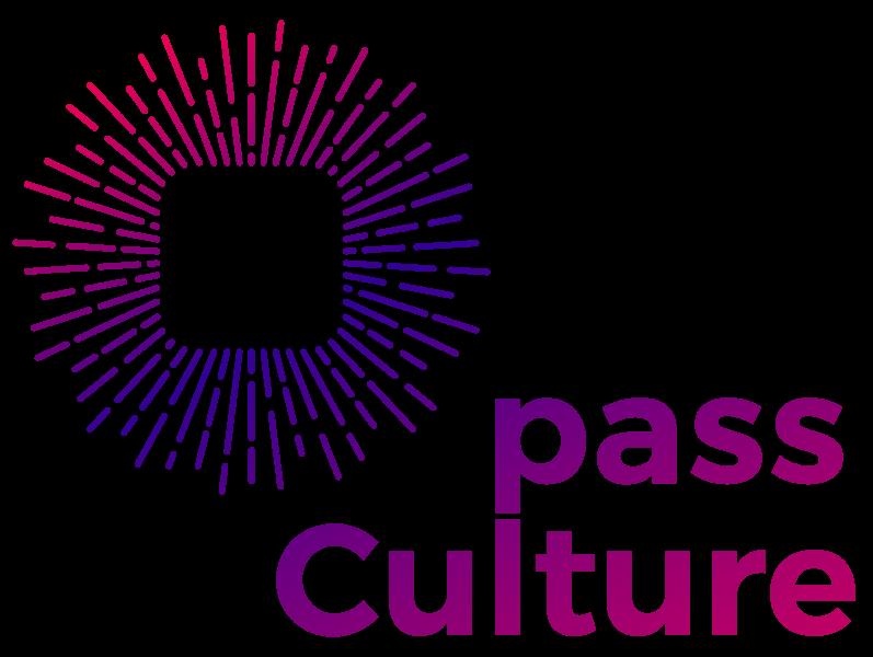 logo pass culture rose et bleu