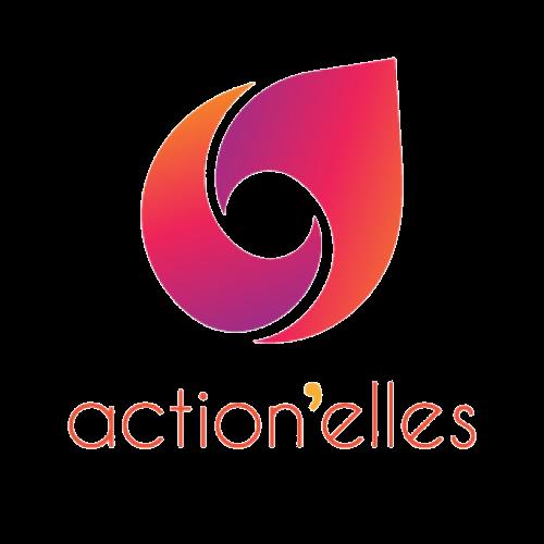 logo action'elles orange et violet