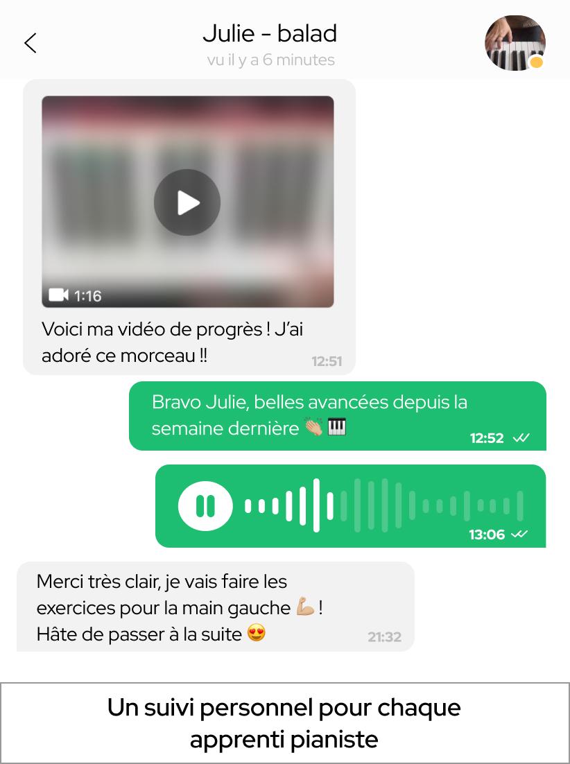 hero chat whatsapp apprendre le piano