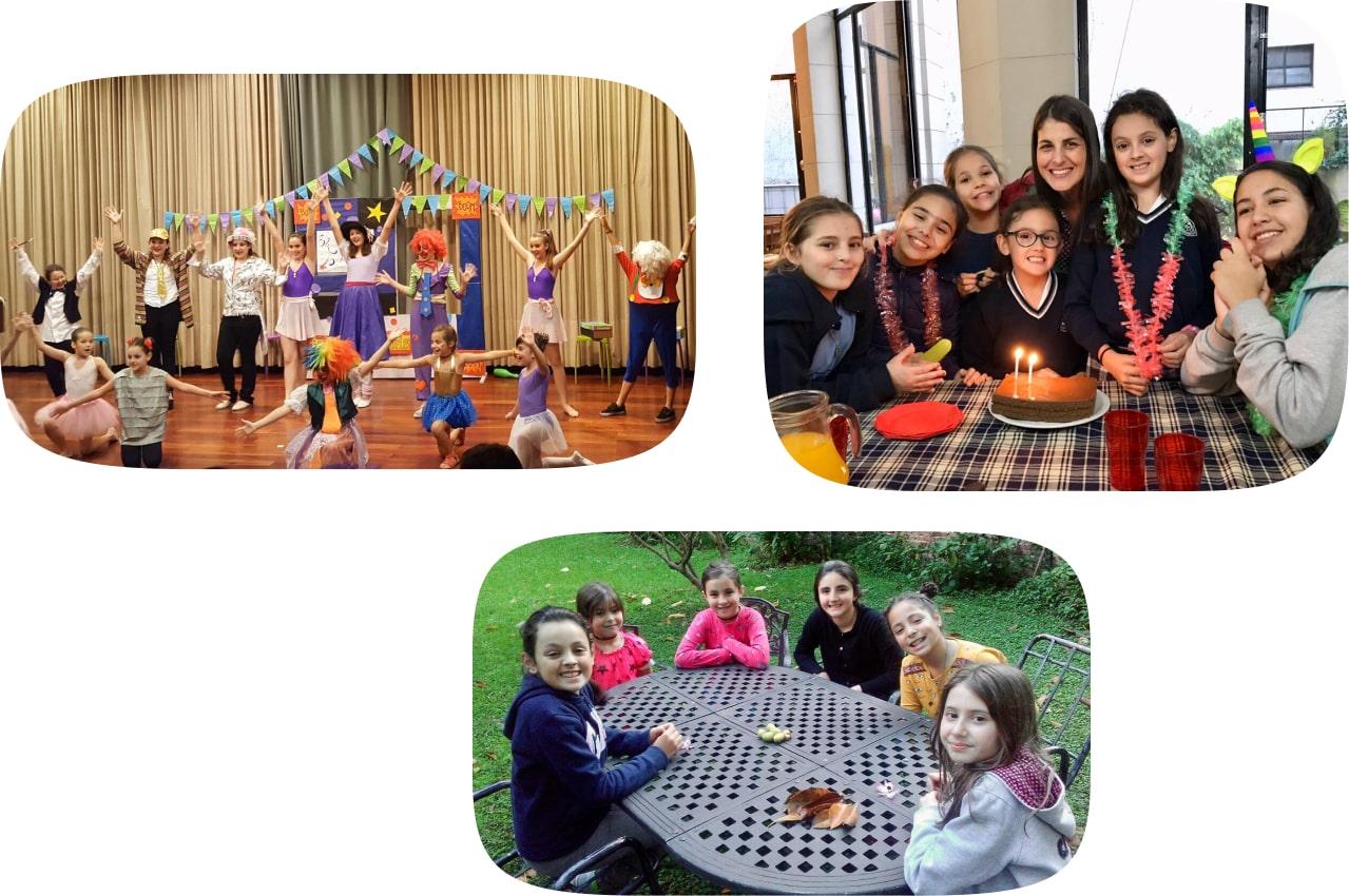 Fotos de chicas realizando actividades en el Club Rieles