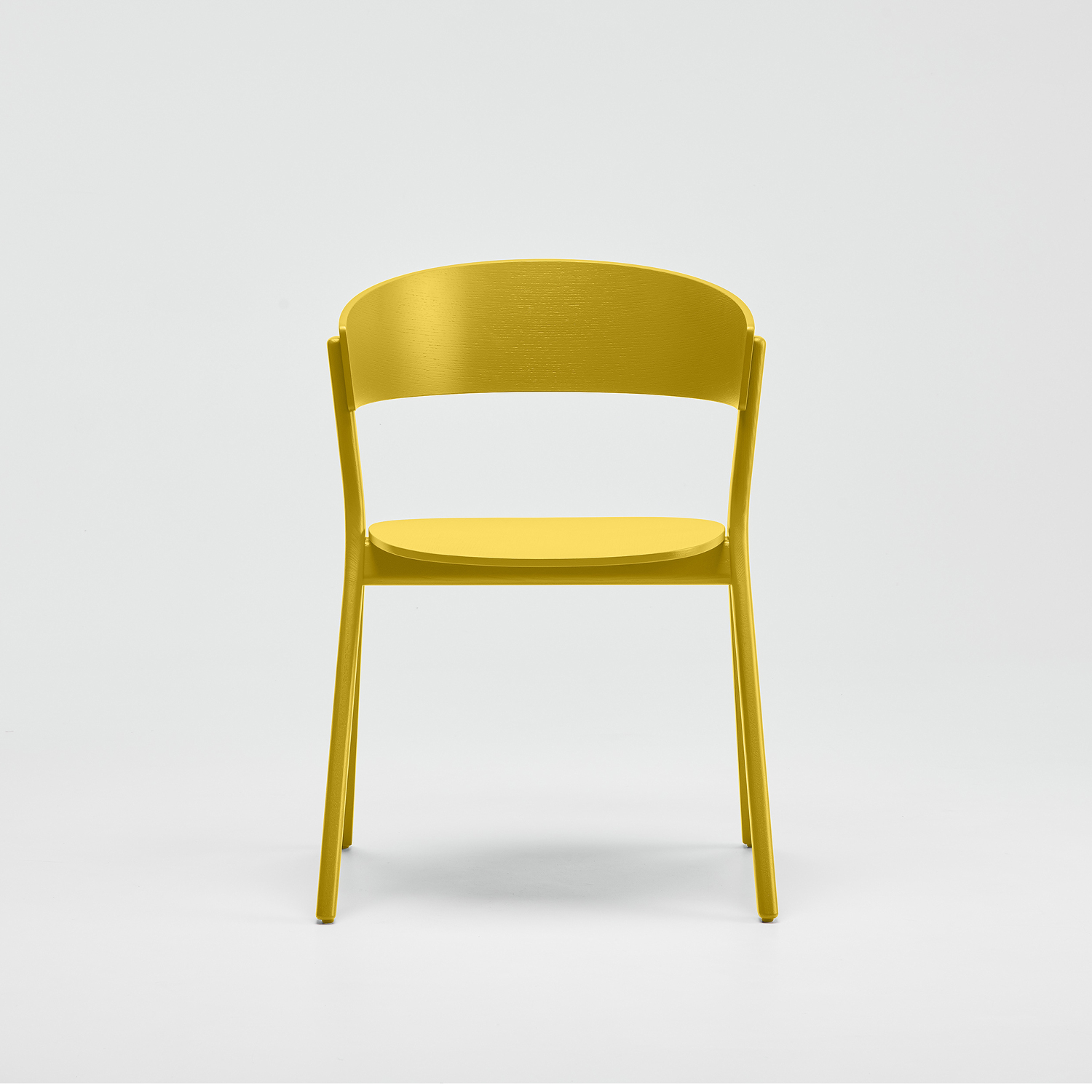 EDITS Circus wood chair in Lemon Yellow lacquer