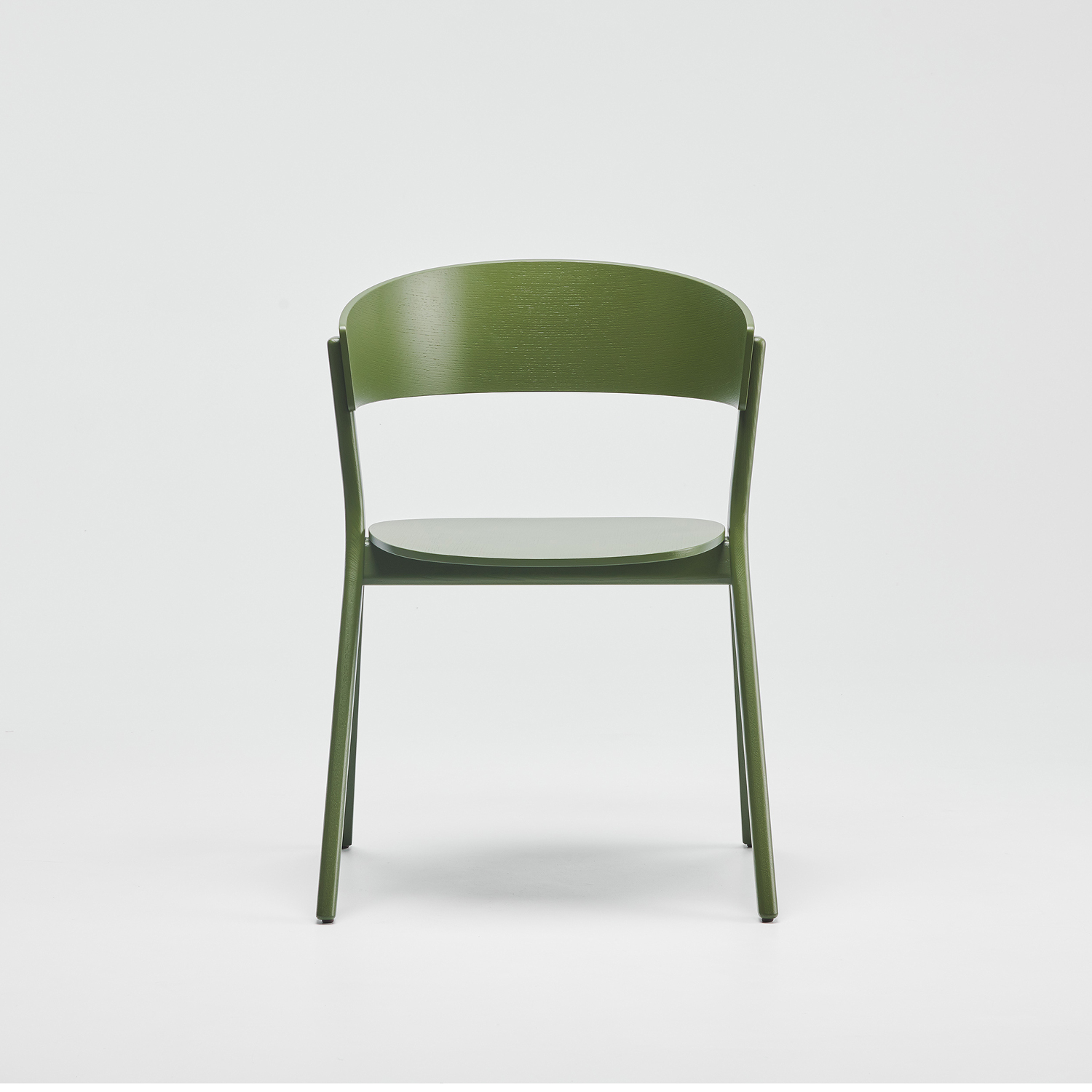EDITS Circus wood chair in Oliver Green lacquer
