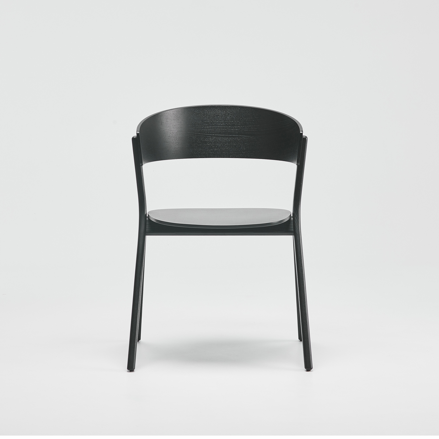 EDITS Circus wood chair in Black Ash lacquer