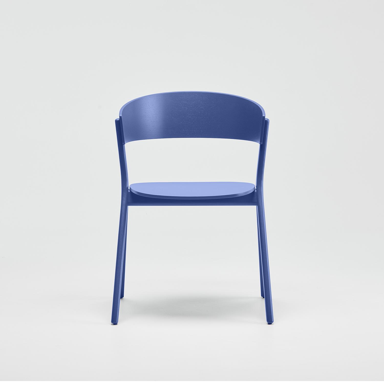 EDITS Circus wood chair in Ultramarine Blue lacquer