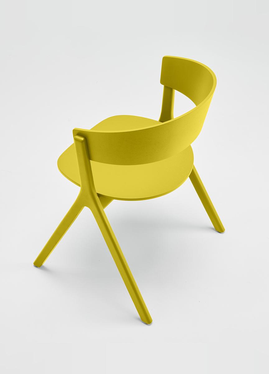 EDITS Circus wood chair in Lemon Yellow