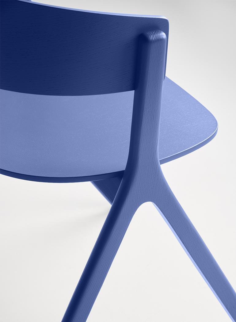 EDITS Circus wood chair detail in Ultramarine Blue