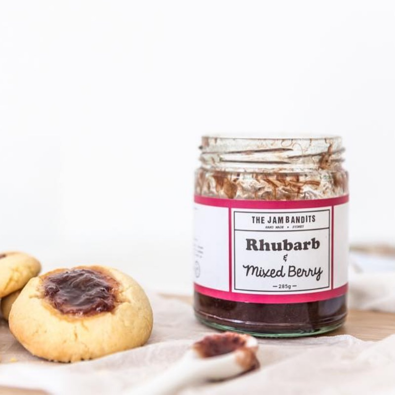 The Jam Bandits Rhubarb & Mixed Berry Jam