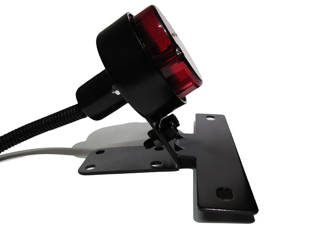 Black Tracker Taillight with License Plate Bracket