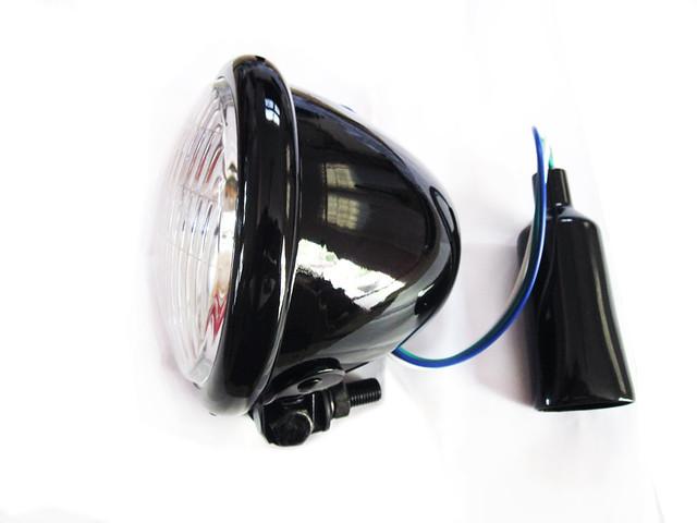 Black 4.5 Inch Bottom mount headlight