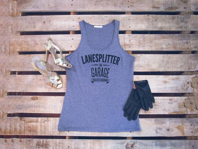 Lanesplitter Garage Ladies Logo Singlet