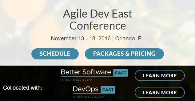 Agile Dev East Conference