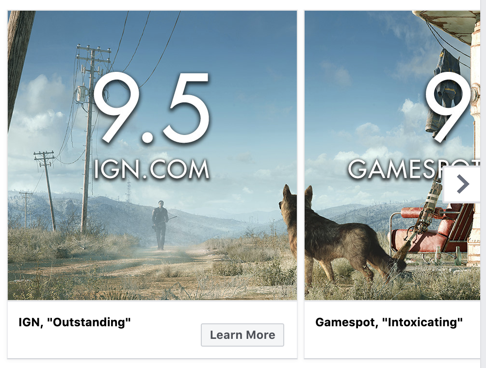 example image of carousel ad for far cry 5