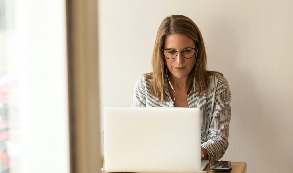 woman working marketing